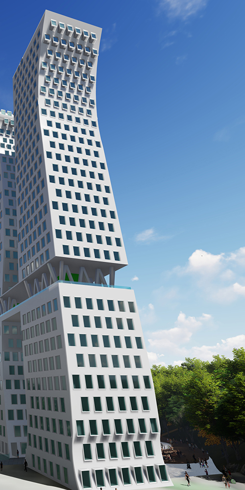 Contemporary highrise architecture by Dirk Coopman
